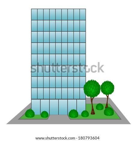 Skyscraper Business Center Building. Raster version   - stock photo