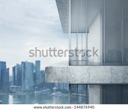 Skyscraper closeup - stock photo