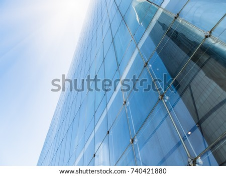 Skyscraper from a low angle view,business concepts.
