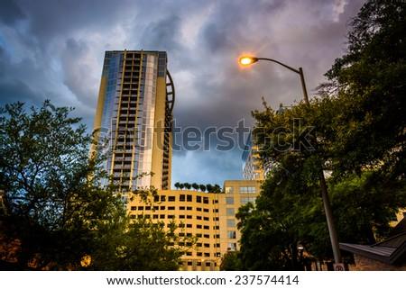 Skyscraper in downtown Orlando, Florida. - stock photo