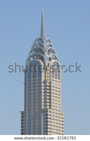 Skyscraper in Dubai, United Arab Emirates - stock photo