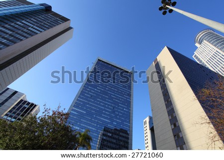 Skyscraper in the center of Tel Aviv - stock photo