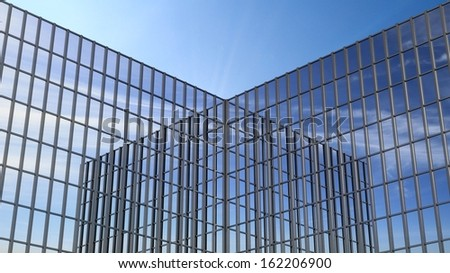 Skyscraper reflect each other - stock photo