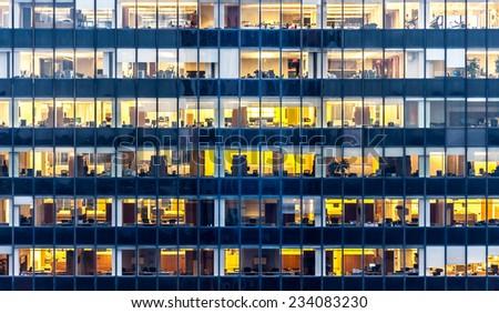 skyscraper windows  - stock photo
