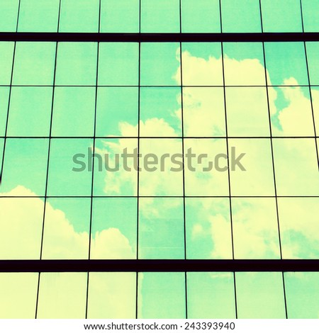 skyscraper windows  background texture - stock photo