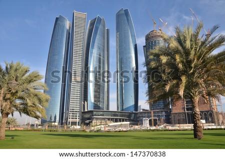 Skyscrapers in Abu Dhabi, United Arab Emirates - stock photo