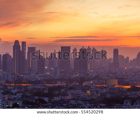 Skyscrapers in Bangkok, Thailand