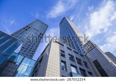 Skyscrapers in Beijing - stock photo