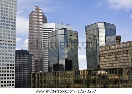 Skyscrapers in Denver, Colorado. - stock photo