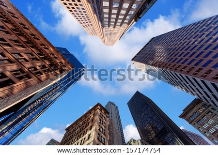 Skyscrapers in downtown - stock photo
