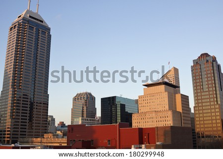Skyscrapers in downtown of Indianapolis, Indiana