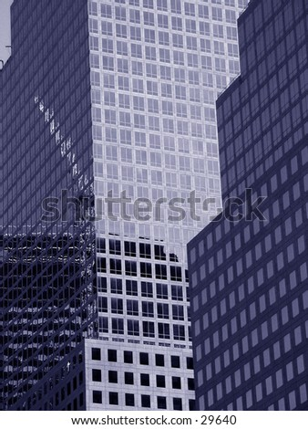 Skyscrapers in NYC - stock photo