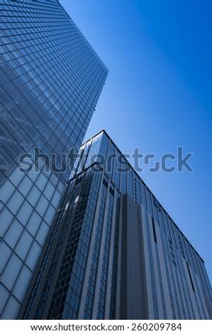 Skyscrapers in Shinjuku  region of Tokyo, Japan - stock photo