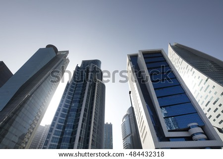 Skyscrapers, modern city