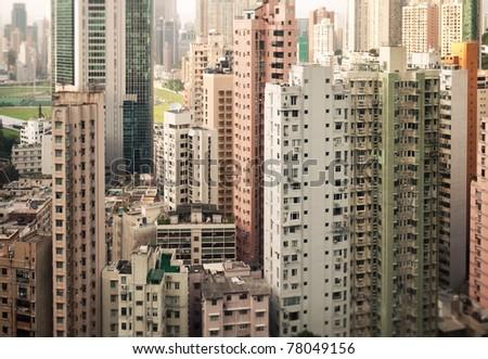 Skyscrapers of Hong Kong - stock photo