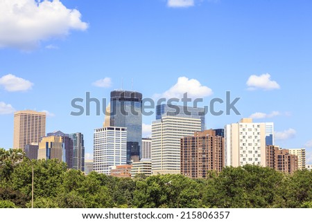 Skyscrapers of Minneapolis, Minnesota, USA