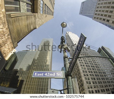 Skyscrapers of New York City, U.S.A. - stock photo