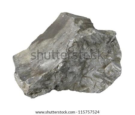 slag stone in white back - stock photo