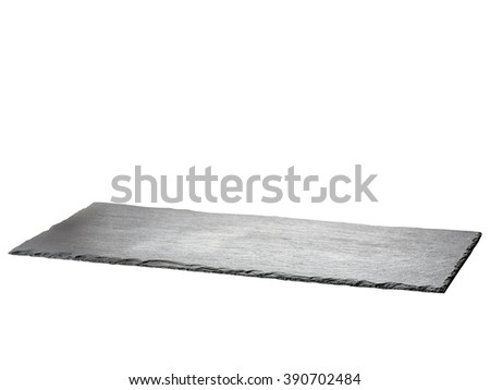 Slate plate isolated on white