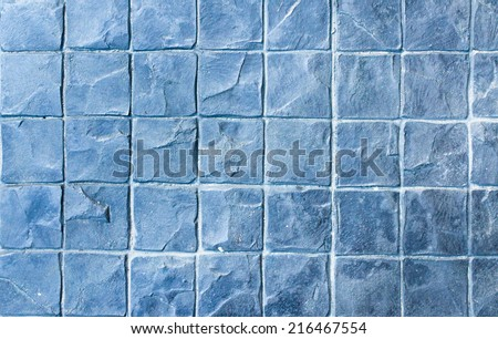 Slate texture vinyl flooring a popular choice for modern kitchens and bathrooms. - stock photo