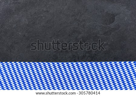Slate with a bavarian diamond pattern - stock photo