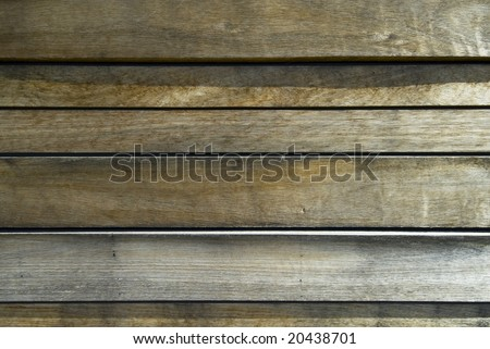 Slats of wood making abstract background - stock photo