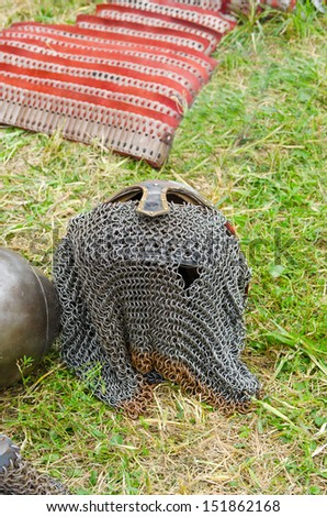 Slavic warrior armor - stock photo