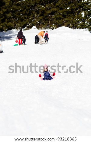 Sledging - winter time