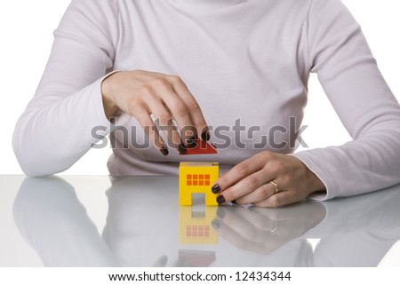 sleep well, your house have the best protection (selective and soft focus) - stock photo