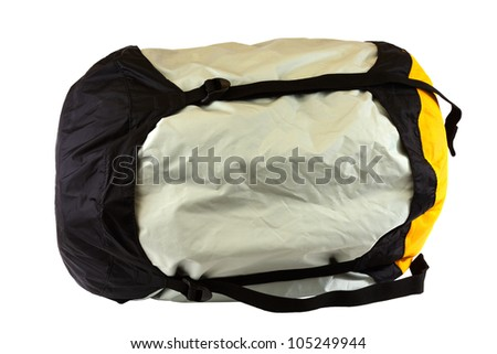 Sleeping bag isolated on a white background. - stock photo