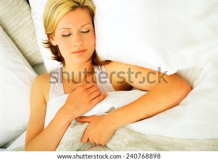 Sleeping beauty woman - stock photo