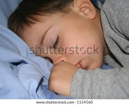 Sleeping Child - stock photo