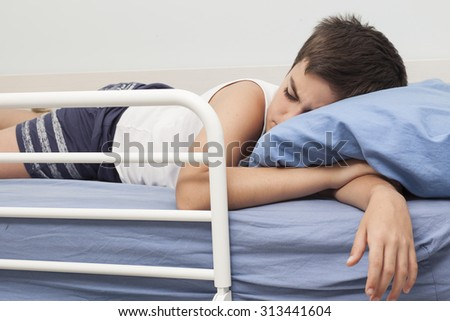 sleeping child - stock photo