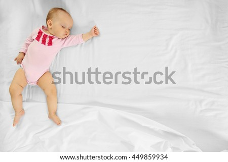 Sleeping cute baby - stock photo