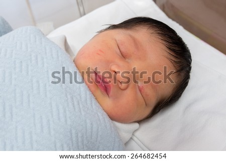 Sleeping Newborn baby.