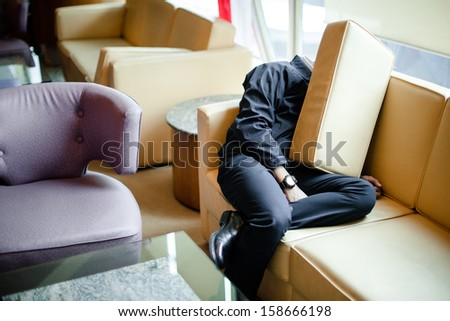 Sleeping on the couch - stock photo
