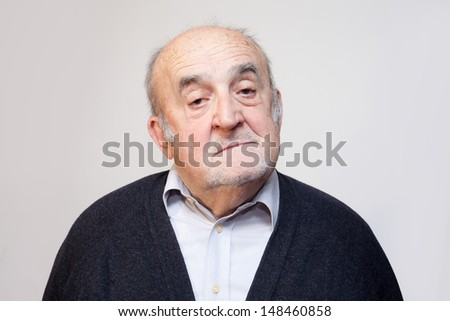 sleepy old man  - stock photo