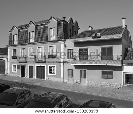Sleepy street of Evora - Alentejo, Portugal (black and white)