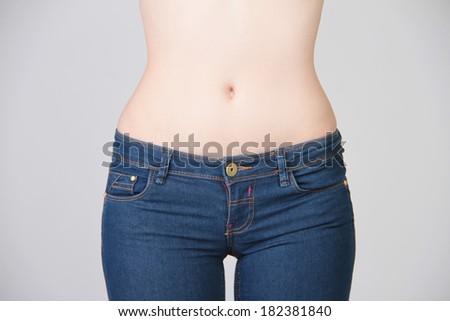 slender female body - stock photo