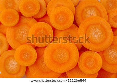 slice carrot background - stock photo