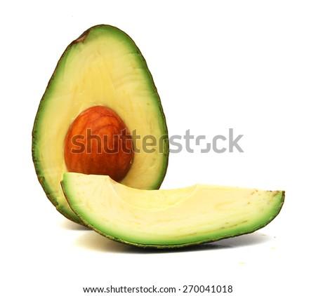 Slice of avocado  - stock photo