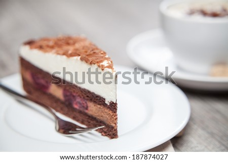 slice of cake on plate