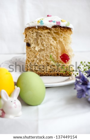 Slice of Easter bread