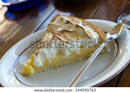 Slice of Lemon Meringue Tart