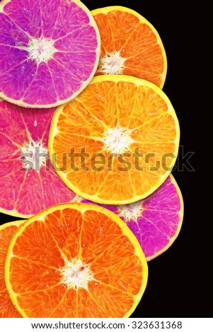 slice of orange fruit .