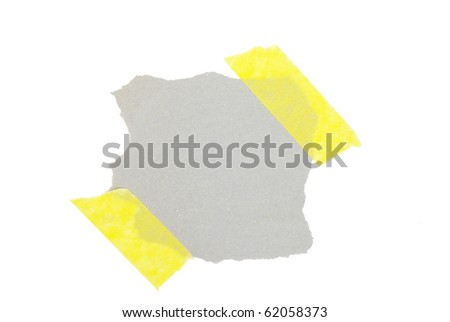 slice of paper isolated on white background