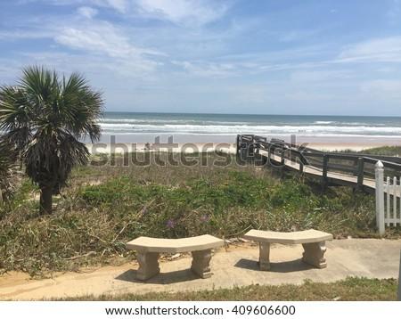 Slice of paradise on the beach - stock photo