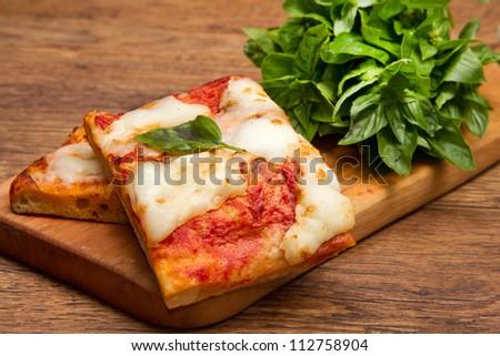 slice of pizza - stock photo