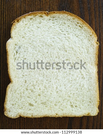 Slice of White Bread - stock photo