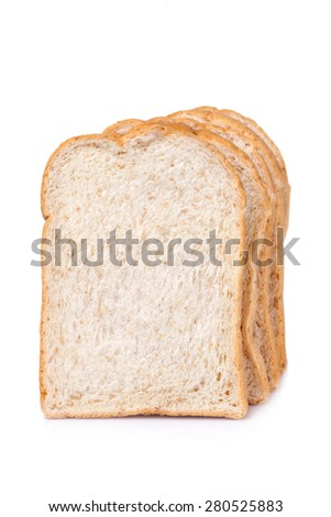 slice of whole wheat bread for background